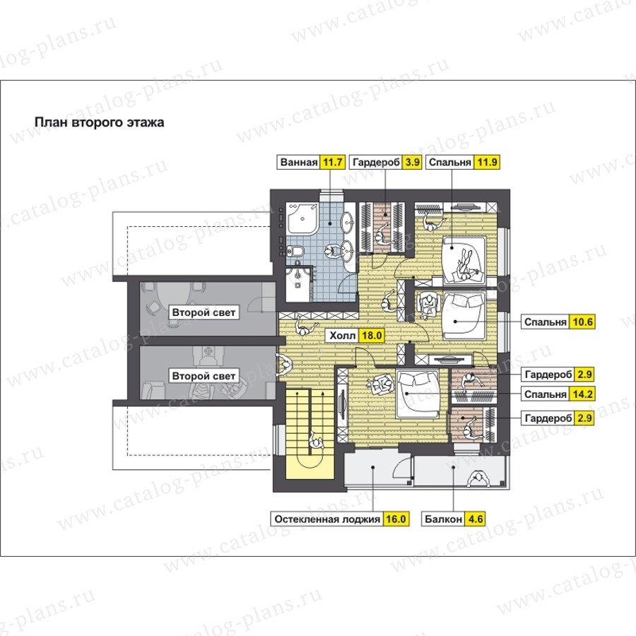 План 2-этажа проекта 59-25D