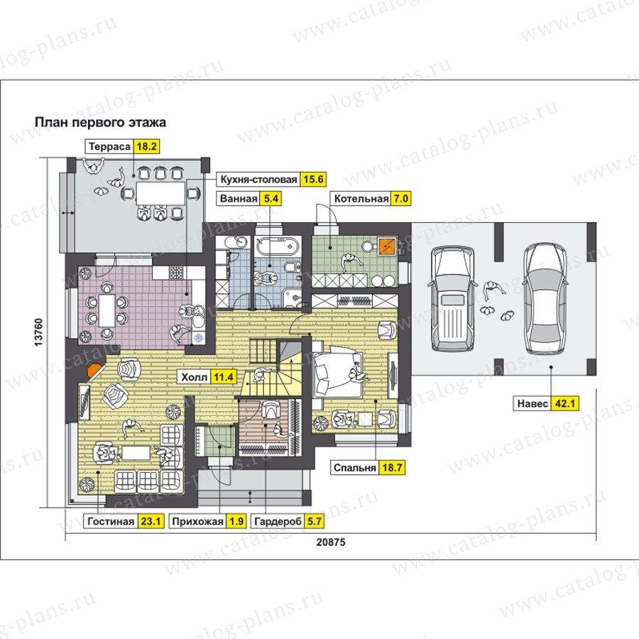План 1-этажа проекта 59-24E
