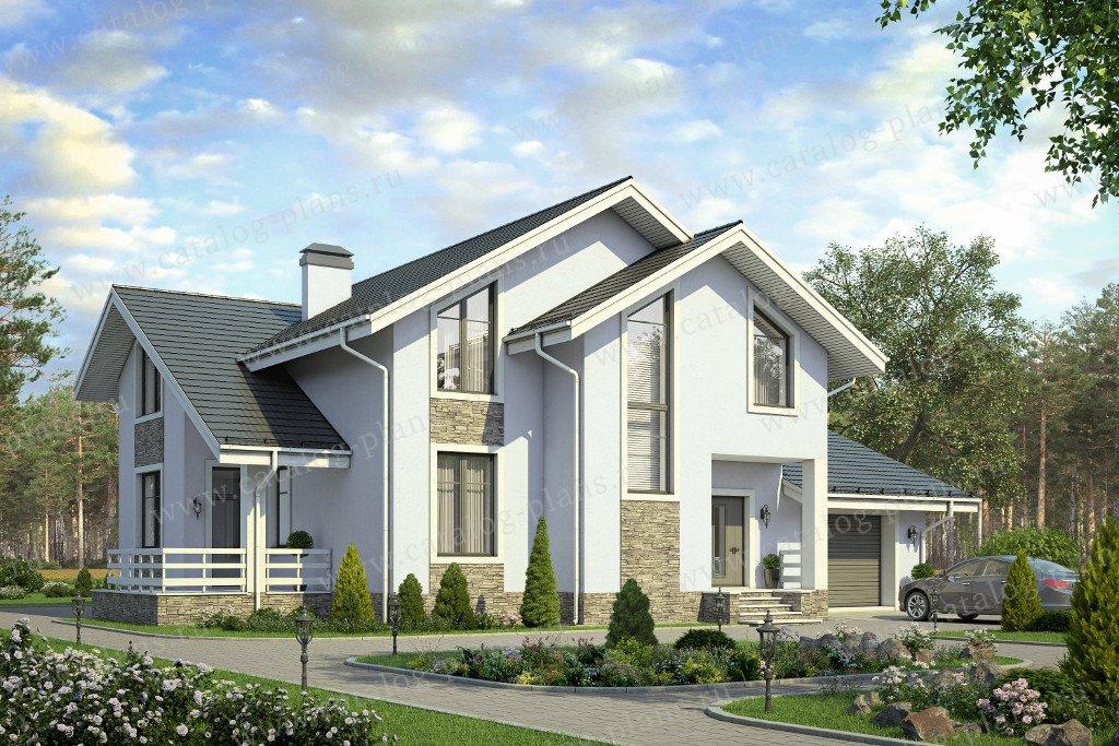 Проект жилой дом #58-08K материал - кирпич, стиль скандинавский