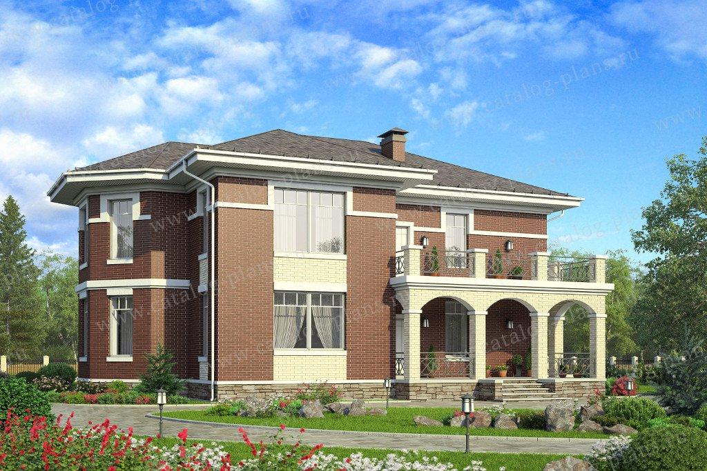Проект жилой дом #58-03 материал - газобетон, стиль средиземный