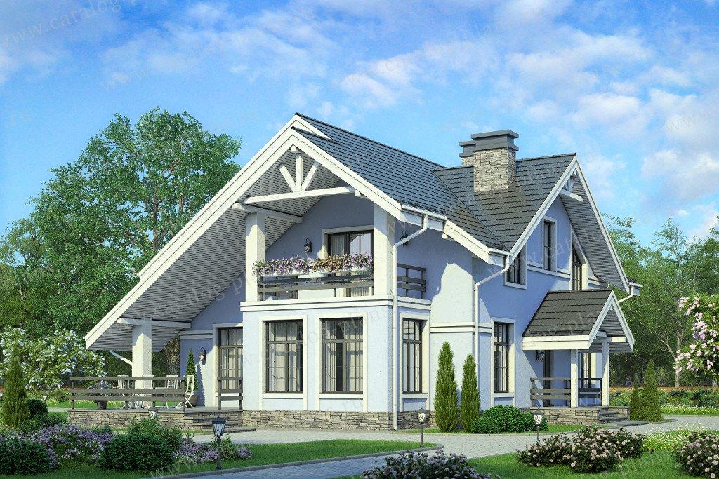 Проект жилой дом #58-22K материал - кирпич, стиль скандинавский