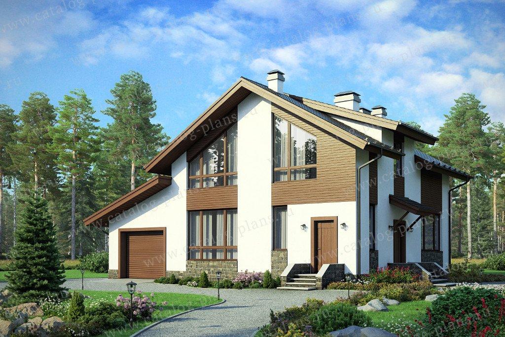 Проект жилой дом #58-21AK материал - кирпич, стиль современный