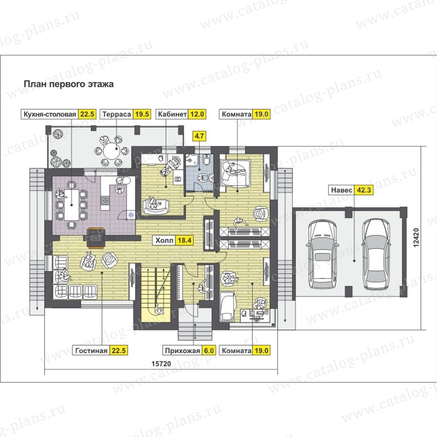 План 2-этажа проекта 59-25EK
