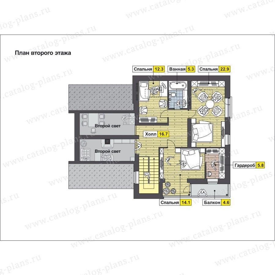 План 2-этажа проекта 59-25C