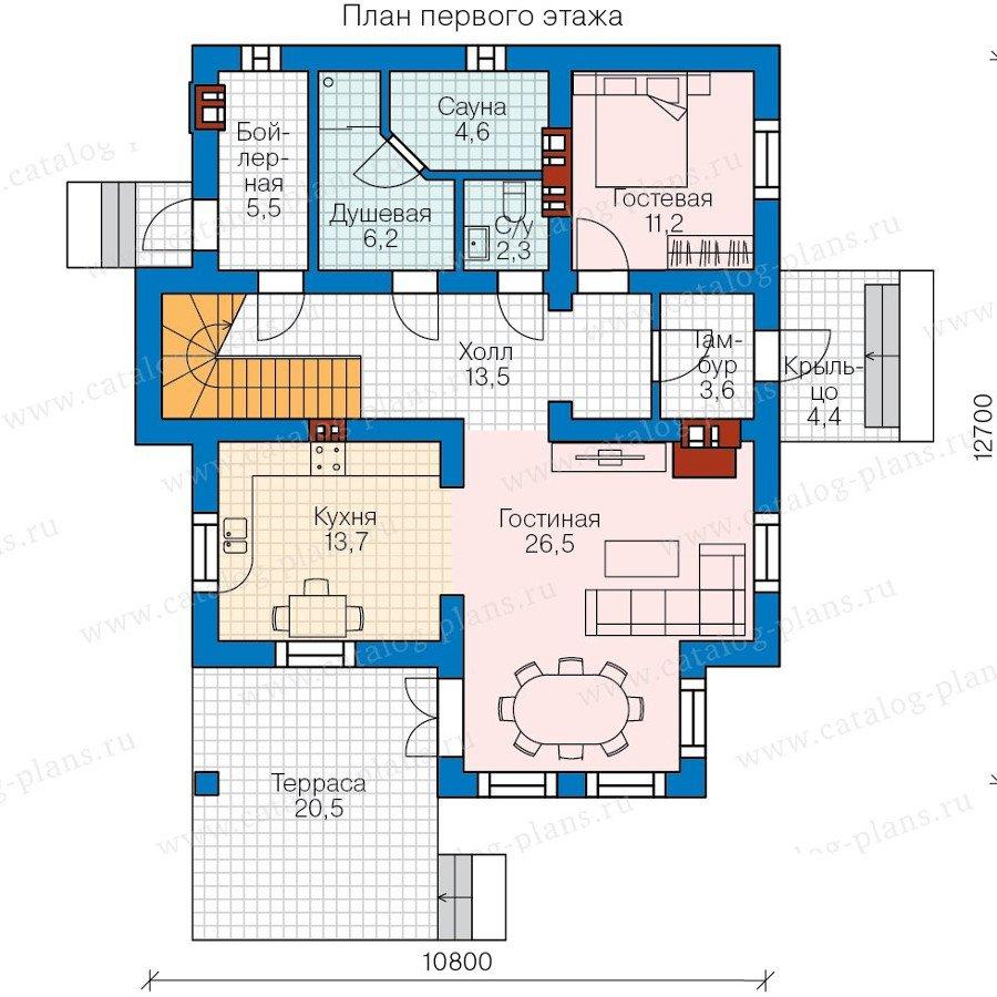 План 1-этажа проекта 58-22K