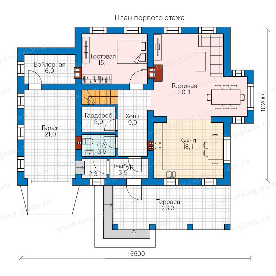 План 1-этажа проекта 58-18