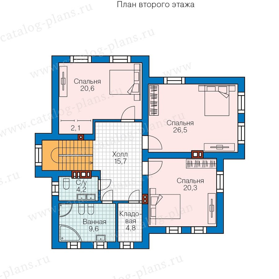 План 2-этажа проекта 58-19K