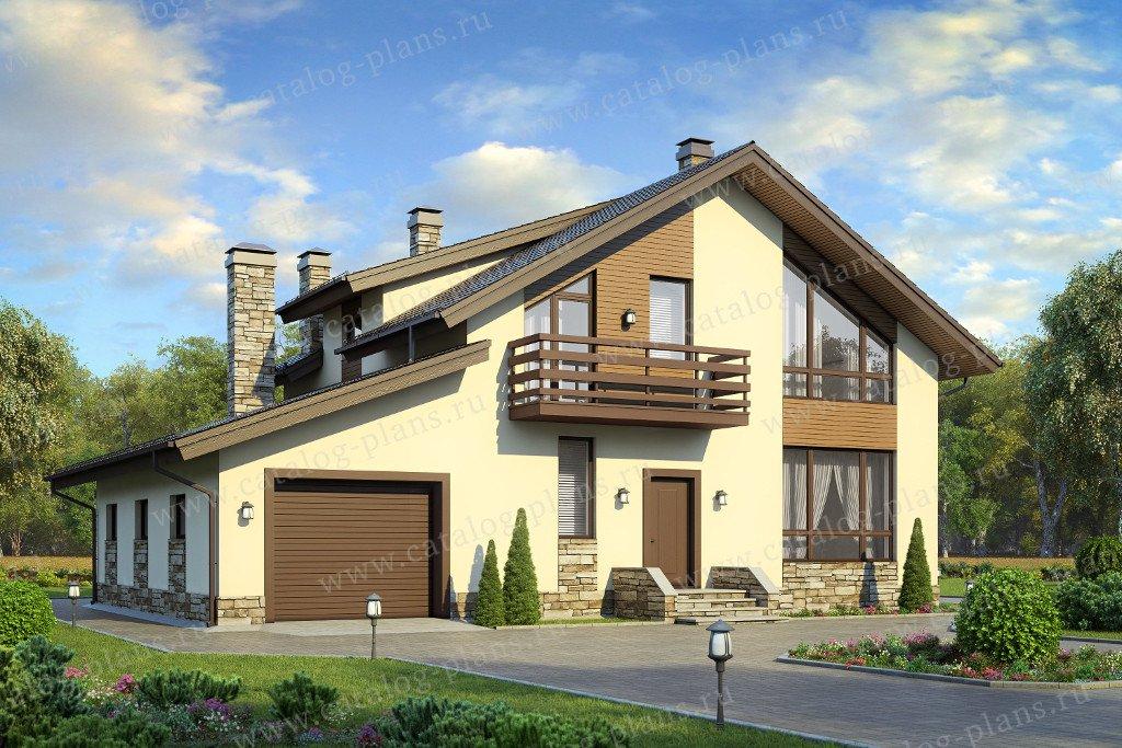 Проект жилой дом #58-21 материал - газобетон, стиль современный