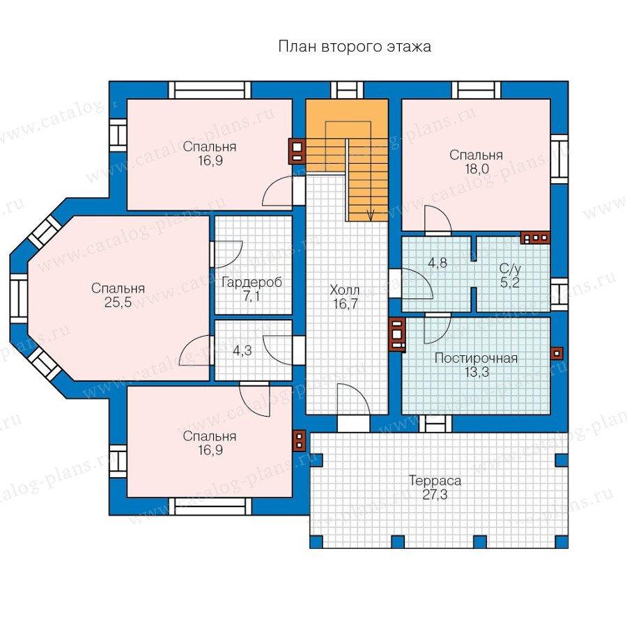 План 2-этажа проекта 58-03