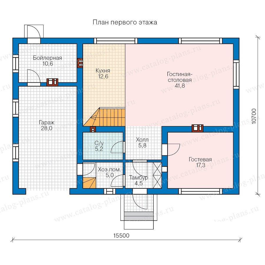 План 1-этажа проекта 58-21AK