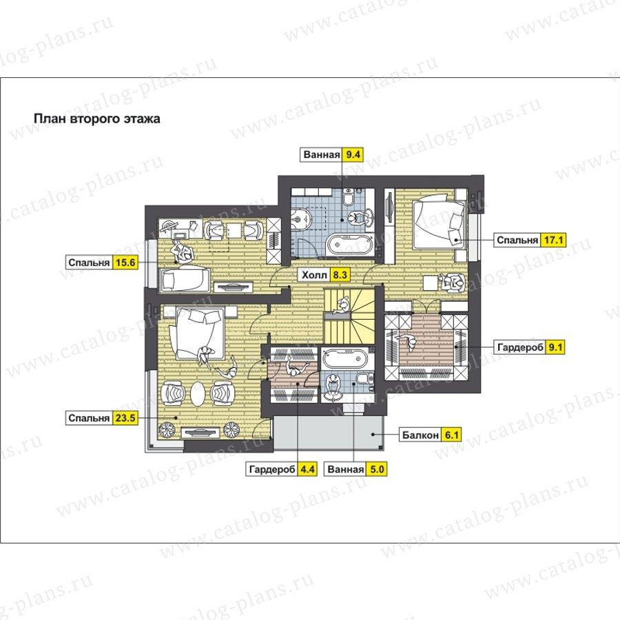 План 2-этажа проекта 59-24E