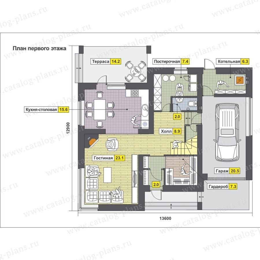 План 1-этажа проекта 59-24P