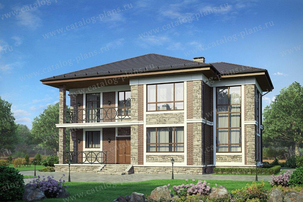 Проект жилой дом #58-25L материал - газобетон, стиль европейский