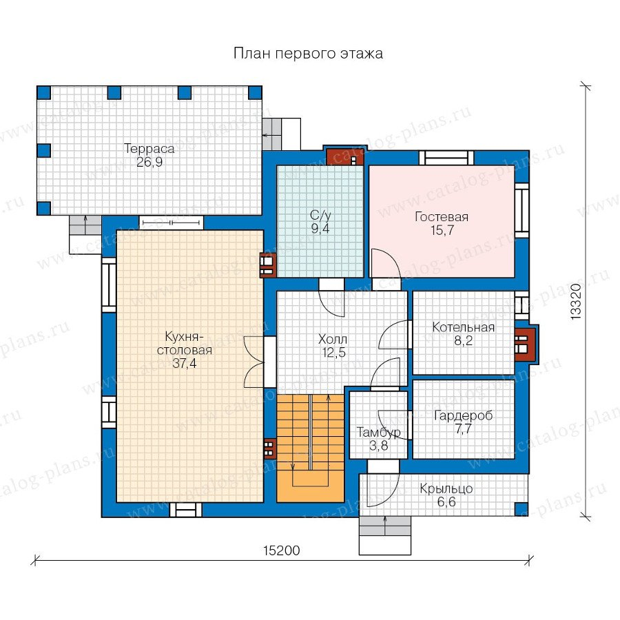 План 1-этажа проекта 58-17K