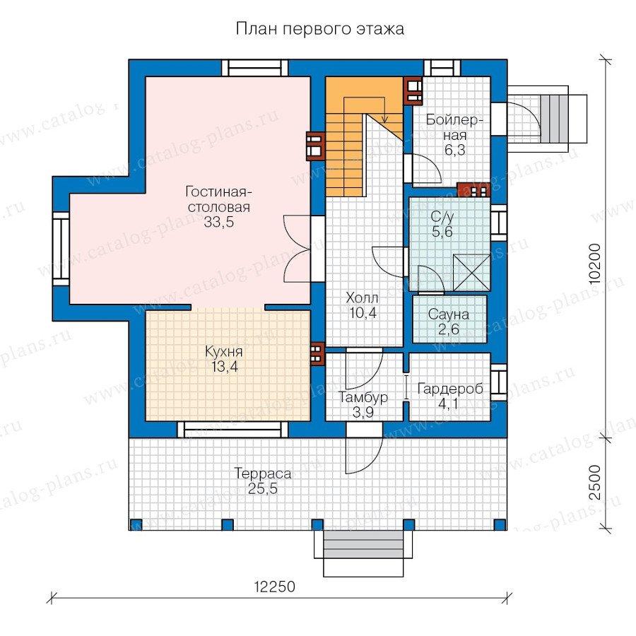 План 1-этажа проекта 58-29K