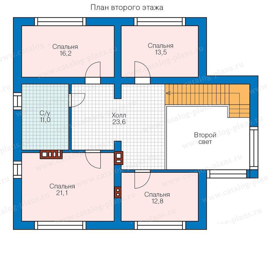 План 2-этажа проекта 58-35K
