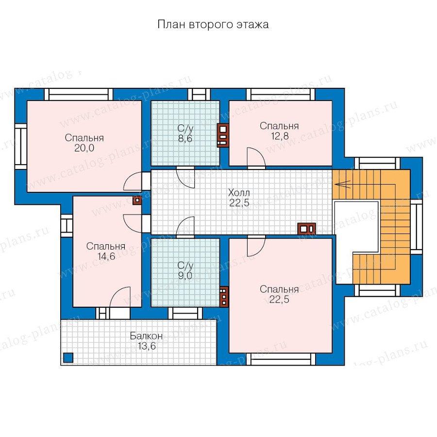 План 2-этажа проекта 58-25L