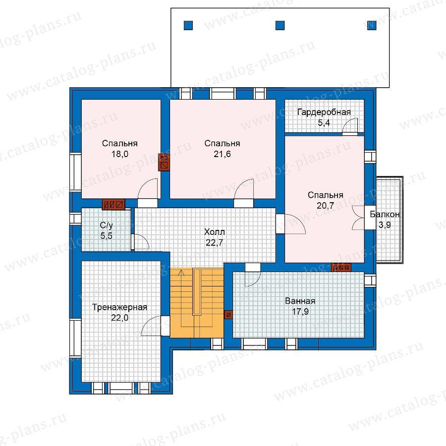 План 2-этажа проекта 57-48