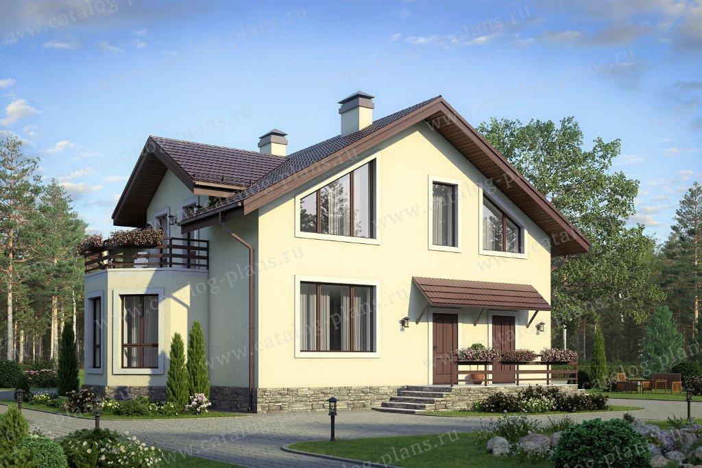 Проект жилой дом #58-38 материал - газобетон, стиль европейский