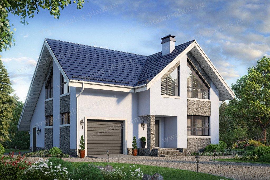 Проект жилой дом #58-37K материал - кирпич, стиль современный