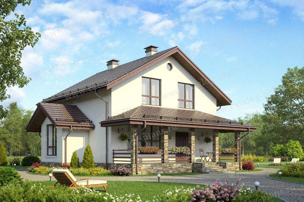 Проект жилой дом #58-29K материал - кирпич, стиль европейский