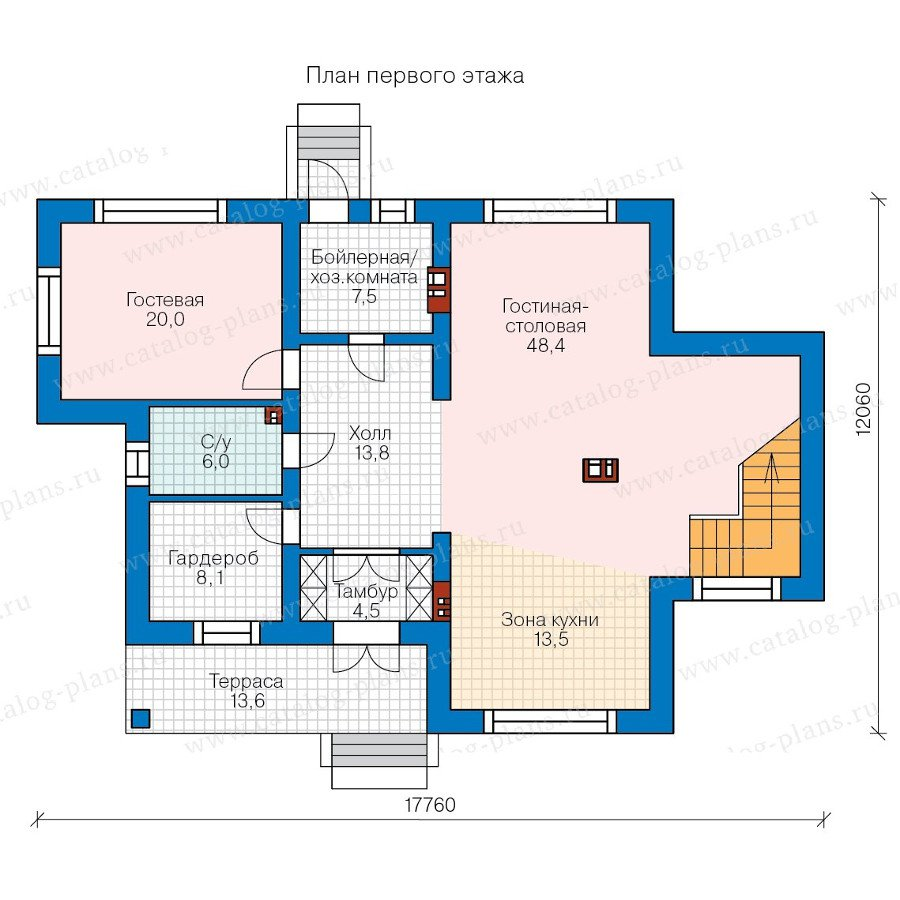 План 1-этажа проекта 58-25L