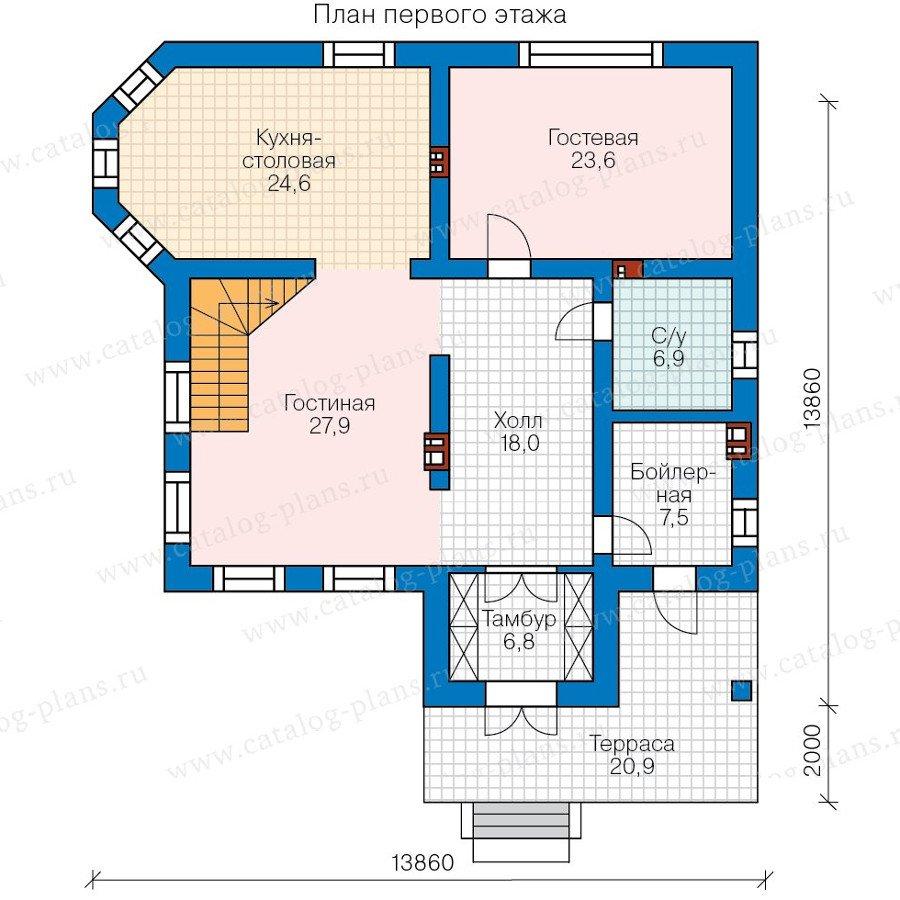 План 1-этажа проекта 58-31KL