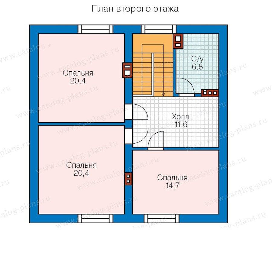 План 2-этажа проекта 58-29K