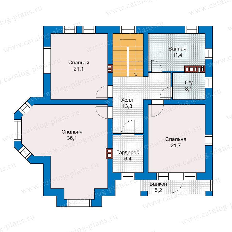 План 2-этажа проекта 57-53