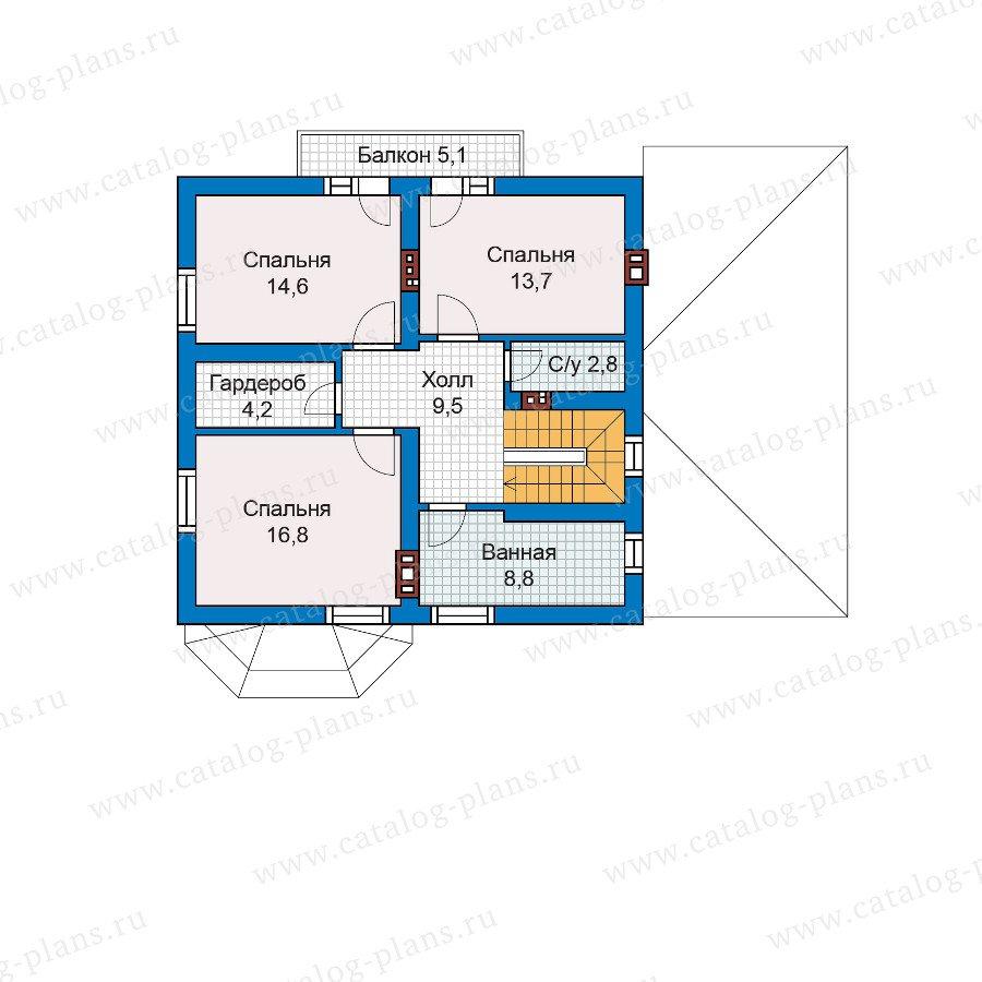 План 2-этажа проекта 57-52