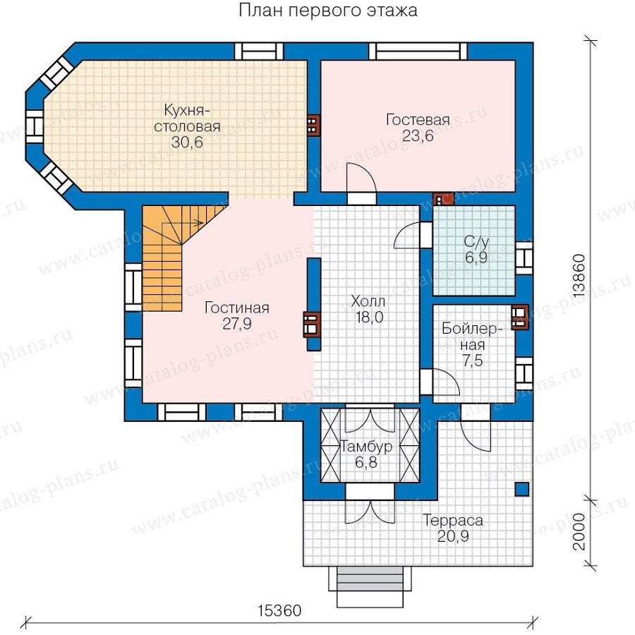 План 1-этажа проекта 58-30L