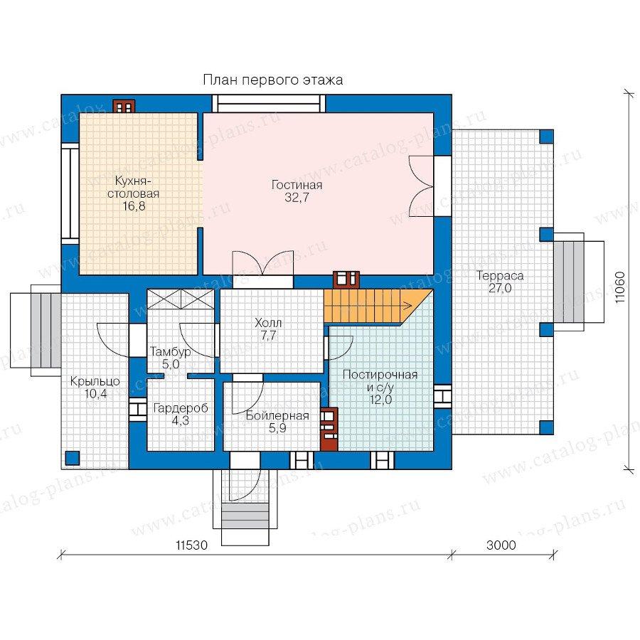 План 1-этажа проекта 58-20L