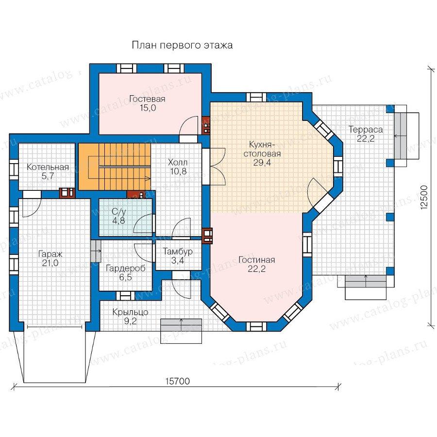 План 1-этажа проекта 58-26