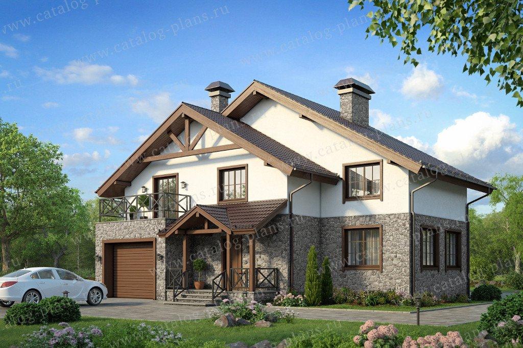 Проект жилой дом #58-33K материал - кирпич, стиль норвежский