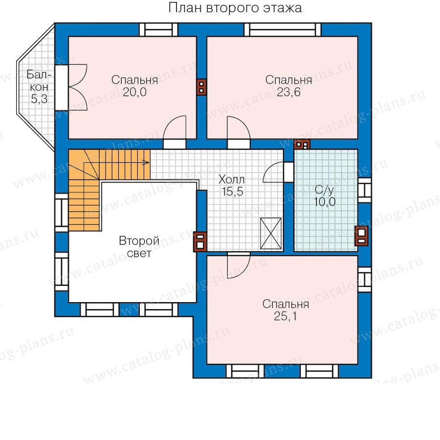 План 2-этажа проекта 58-31L