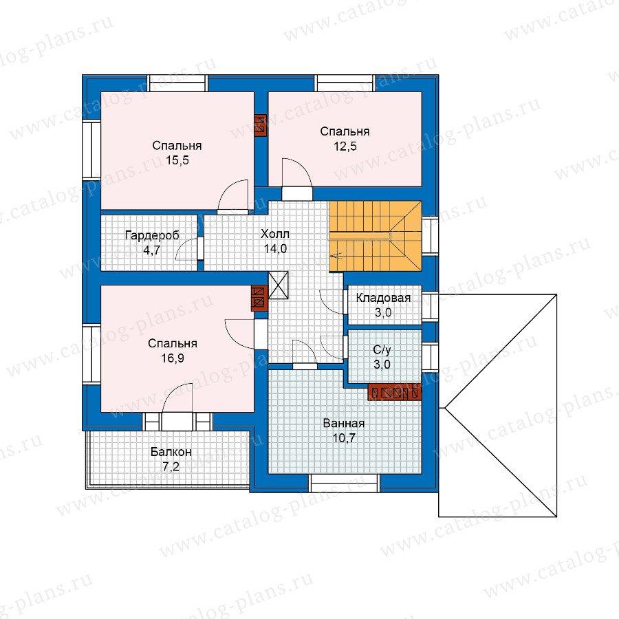 План 2-этажа проекта 57-50Кедрал