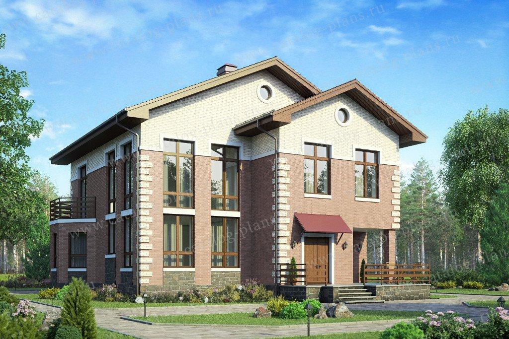 Проект жилой дом #58-31KL материал - кирпич, стиль европейский