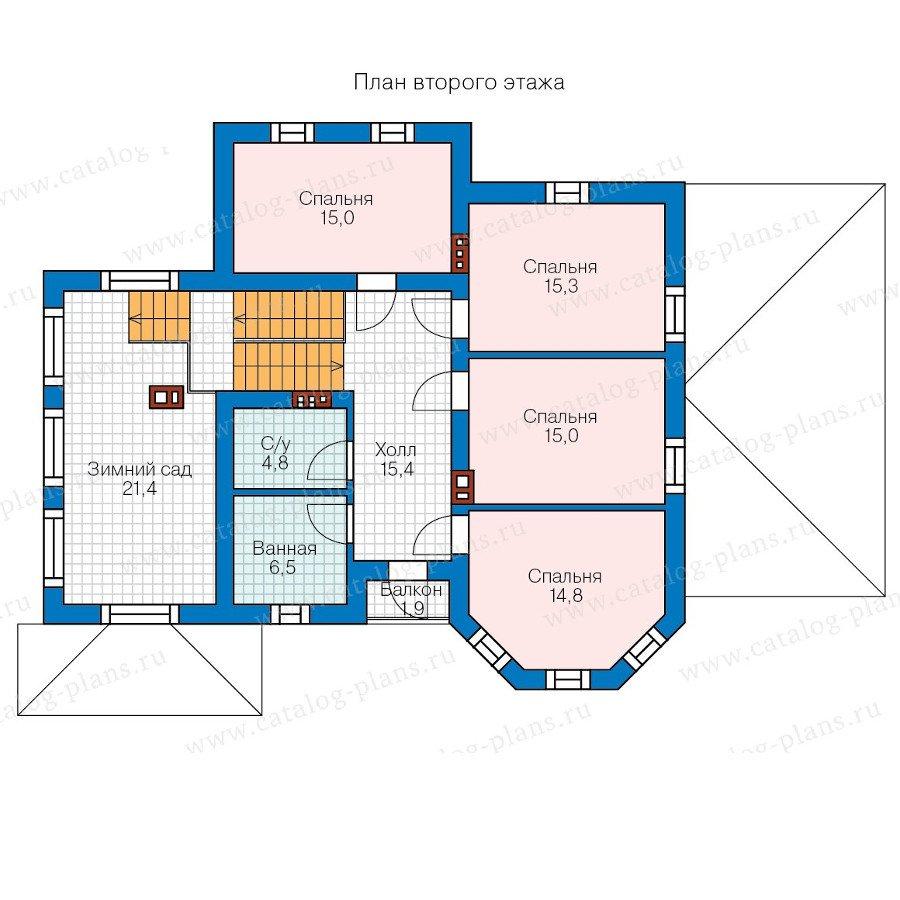 План 2-этажа проекта 58-26К