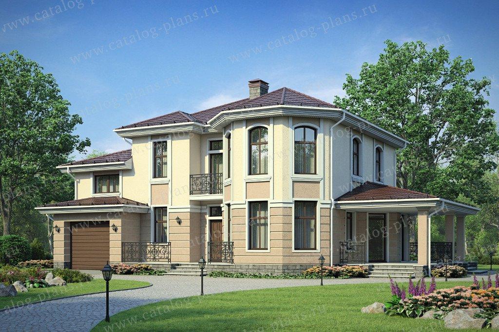 Проект жилой дом #58-26К материал - кирпич, стиль европейский