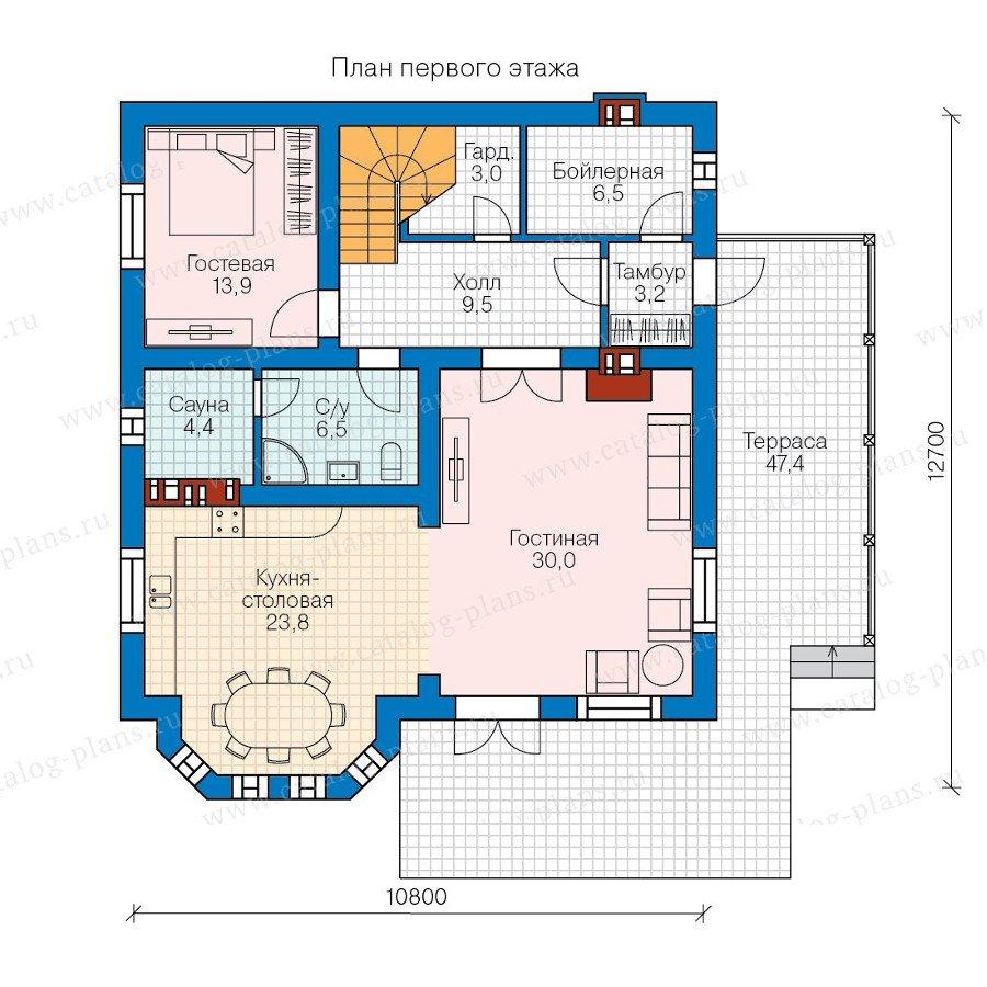 План 1-этажа проекта 58-23