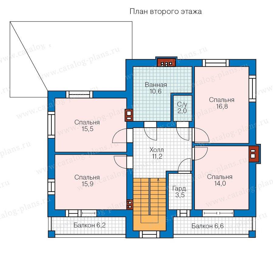 План 2-этажа проекта 58-17K