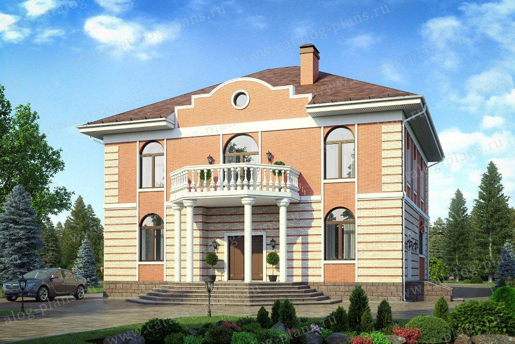 Проект жилой дом #40-41L материал - кирпич, стиль классический
