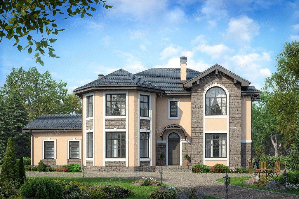 Проект жилой дом #40-42G материал - газобетон, стиль классический