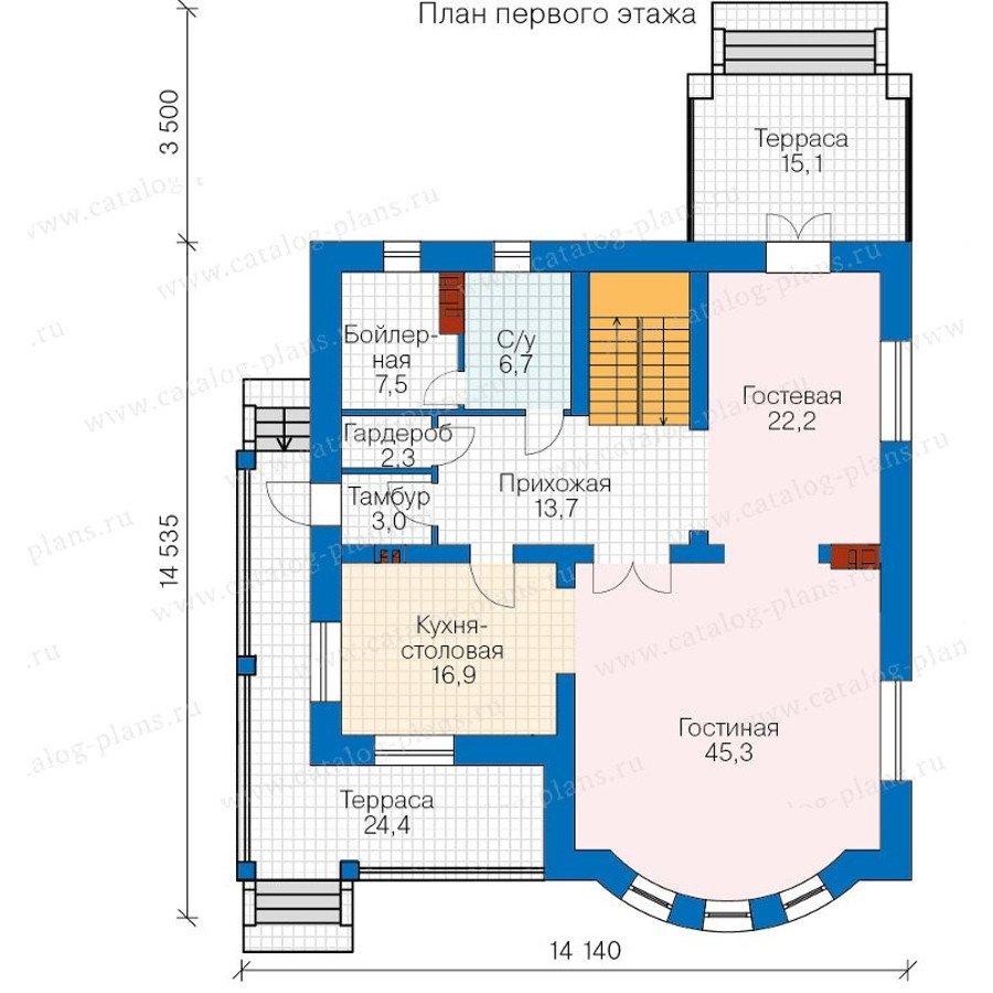 План 1-этажа проекта 57-60A