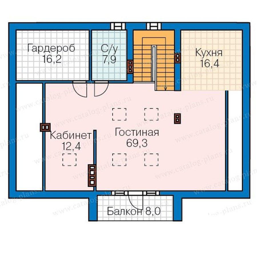 План 4-этажа проекта 57-70K