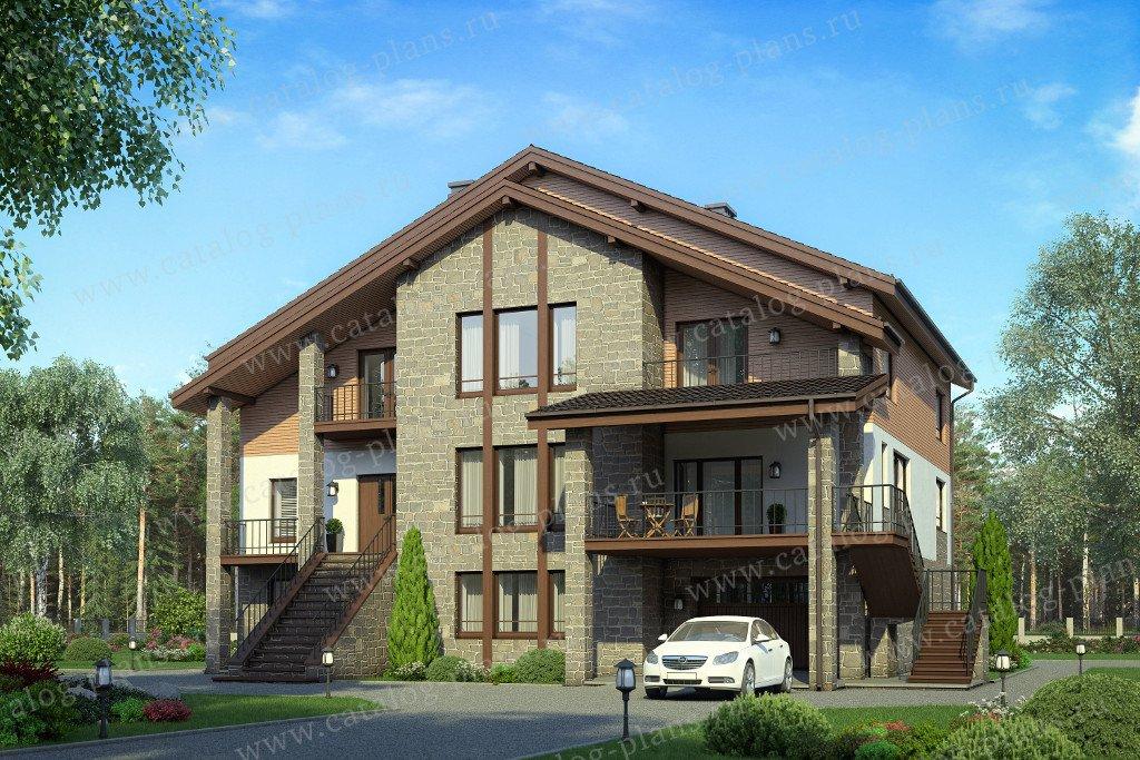 Проект жилой дом #40-32 материал - кирпич, стиль современный