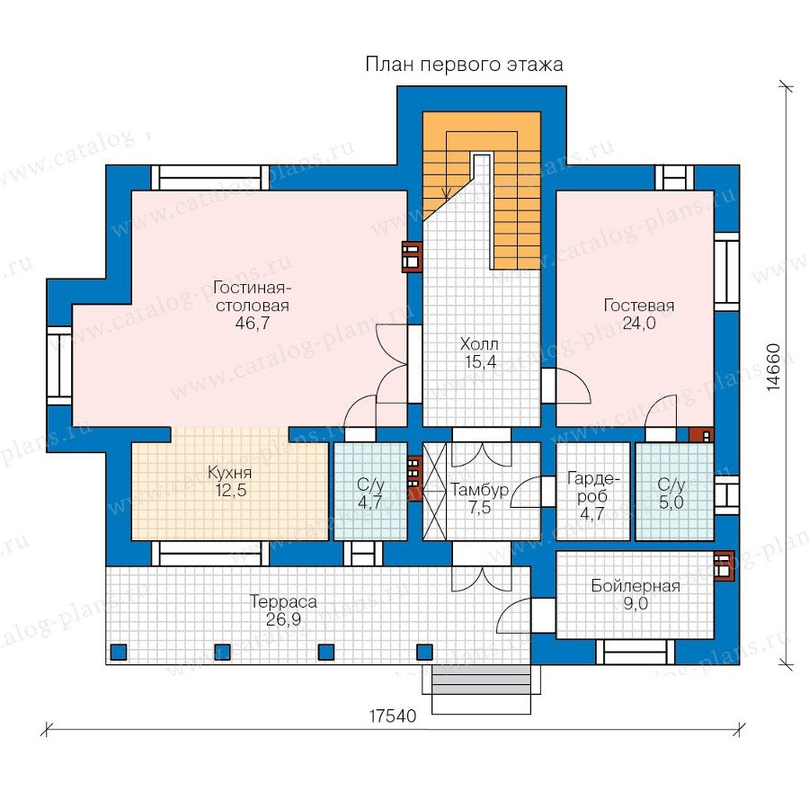 План 1-этажа проекта 40-43L