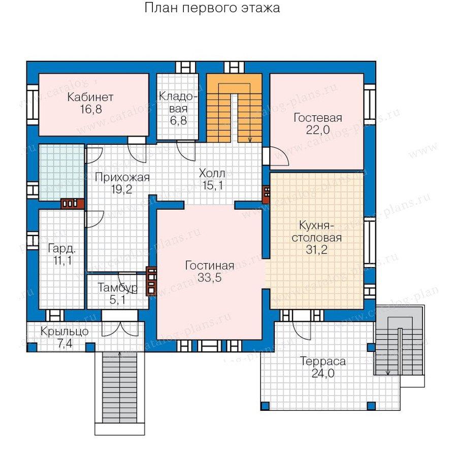 План 2-этажа проекта 40-32