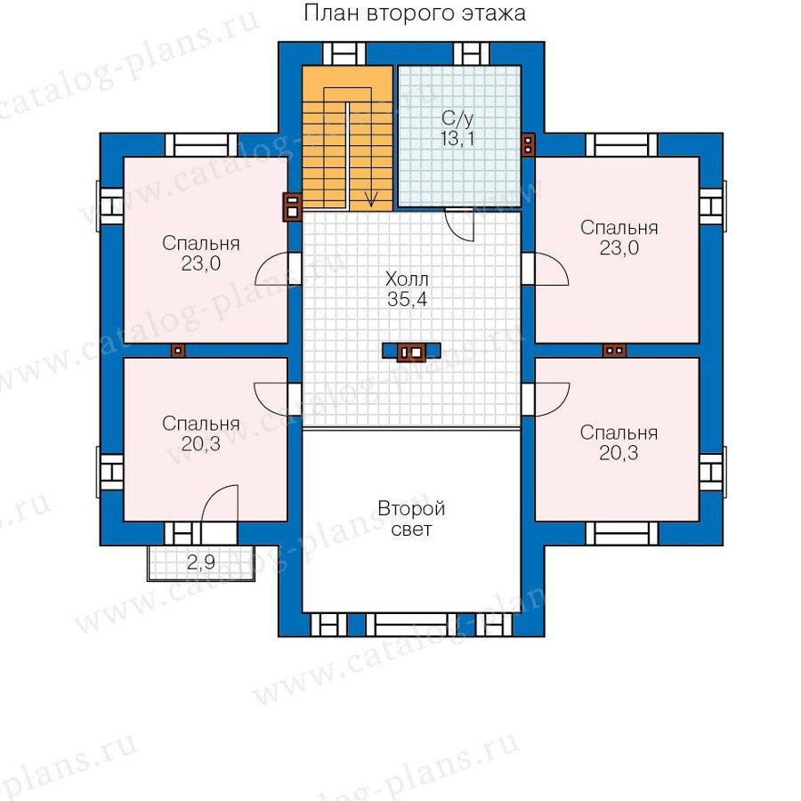 План 2-этажа проекта 40-39L
