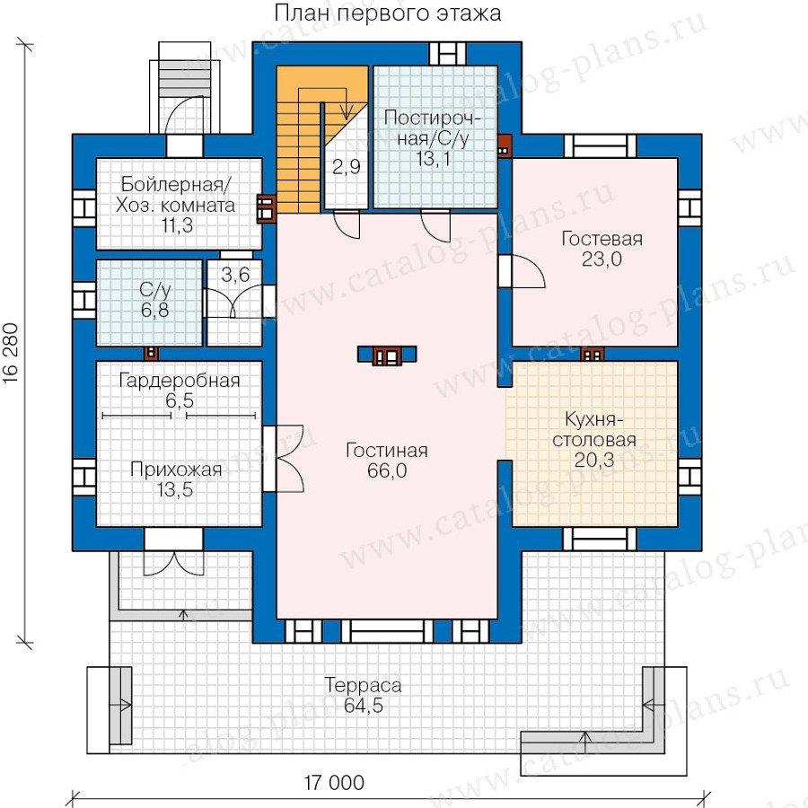 План 1-этажа проекта 40-39L